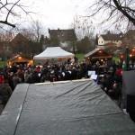 Blick auf den Weihnachtsmarkt vom DGH aus.