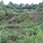 Gehört mit zum Gelände: ein toller alter Steinbruch (Naturschutzgebiet)