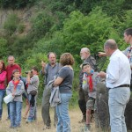 Exkursionsgruppe im Steinbruch